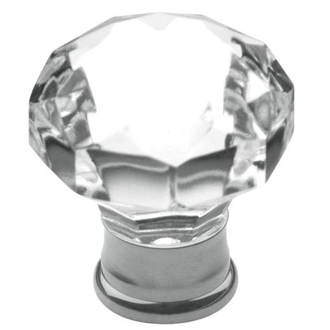 Knob Flat Chrome baldwin flat faceted 1 3 16 in polished chrome cabinet knob 4323 260 the home depot