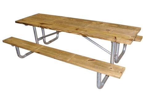 8 wood picnic table commercial site furnishings