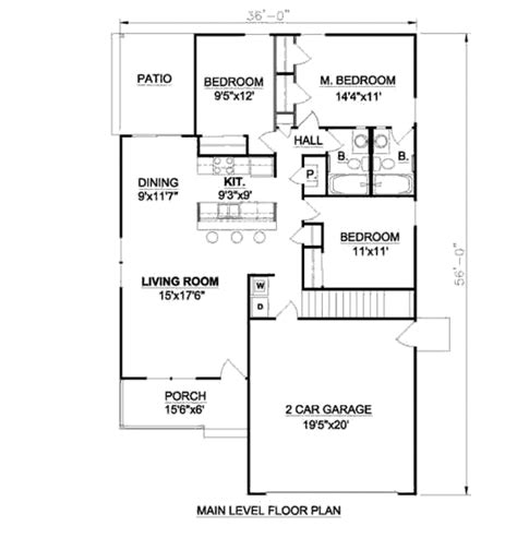bungalow style floor plans bungalow style house plan 3 beds 2 baths 1216 sq ft plan 116 262