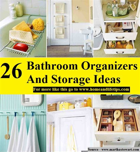 26 great bathroom storage ideas 26 bathroom organizers and storage ideas home and life tips