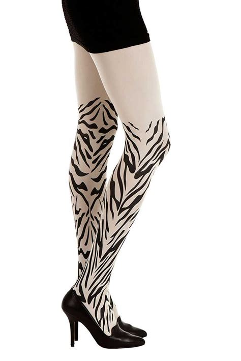 jungle speed print zebra tights white amp black zohara
