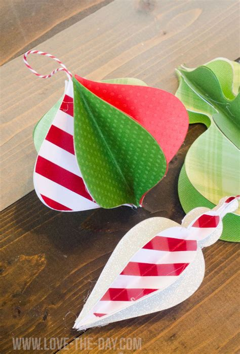 Paper Ornaments - diy paper ornaments by the day