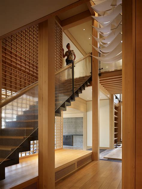 Japanese Stairs Design Contemporary House In Seattle With Japanese Influence Idesignarch Interior Design