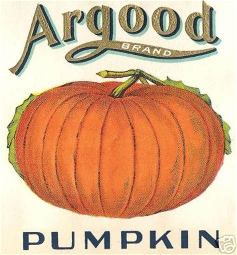 vintage pumpkin framehousegallery argood pumpkin vintage label print