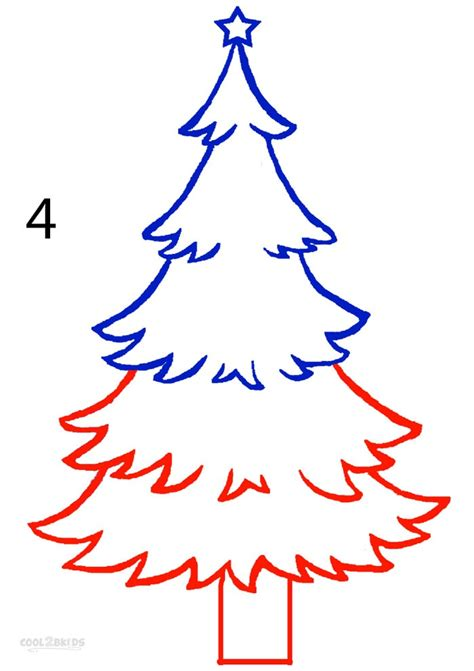 christmas pictures step by step how to draw a tree step by step mobawallpaper