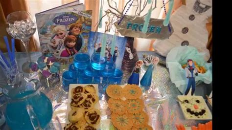frozen themed party kelso disney frozen themed party for my boy s birthday youtube