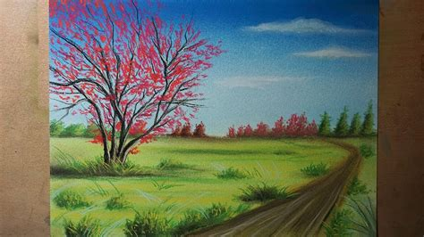 imagenes de paisajes simples c 243 mo dibujar un 193 rbol rojo y un paisaje de co paso a