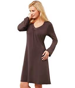amoena matte shiny modal shelf bra nightdress sleepwear