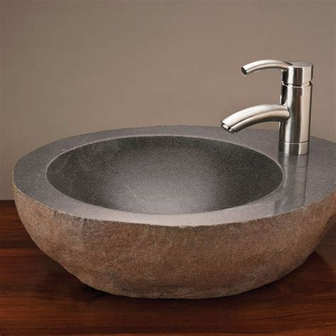 Stones In Bathroom Sink by Vessel With Faucet Mount Forest