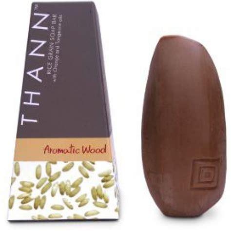 thann rice thann aromatic wood rice grain soap bar by thailand