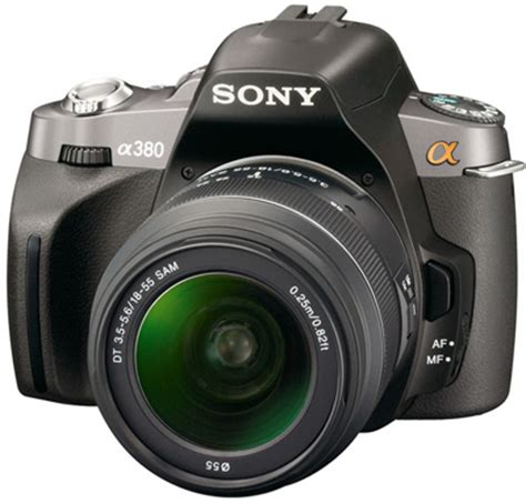 sony a380, a330 and a230 digital slr cameras