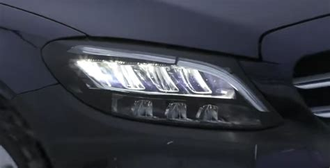 mercedes c class headlights 2019 mercedes c class shows heavily revised headlights