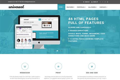 templates for html pages free download universal 45 pages free bootstrap 4 business e