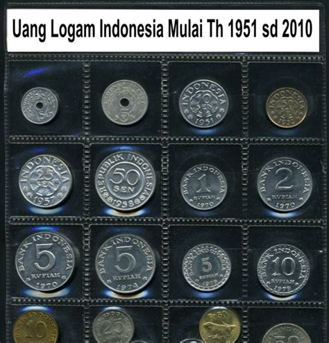 Uang 5 Sen Tahun 1951 Dapat 8 Koin uang kuno di surabaya uang logam koin indonesia mulai