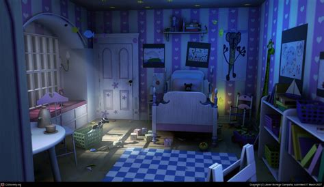 monsters inc bedroom the boo 180 s room by borreguito 3d cgsociety