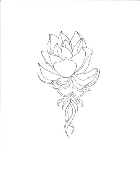 tribal lotus tattoos pictures of lotus drawings lotus on tribal lotus