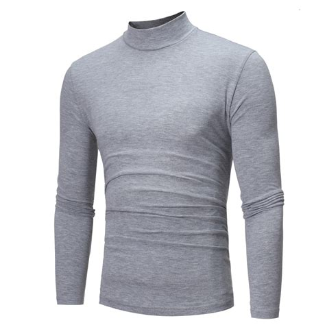 Kaos Import L 3xl 3 mens sleeve cotton roll polo turtle neck top new l 3xl 4 colours in sizes ebay
