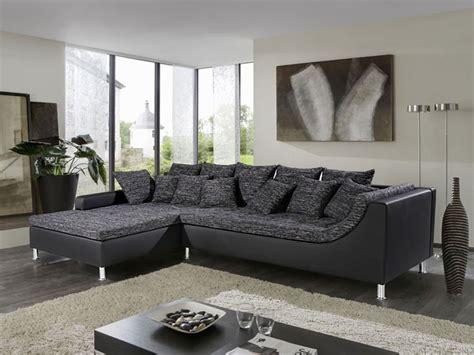 grau braun schwarzer farbton eckcouch madeleine 326x213cm webstoff schwarz grau
