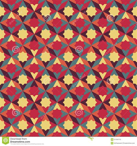 abstract pattern ai abstract retro geometric pattern stock vector image
