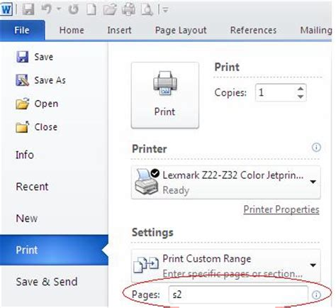 word document sections how to print a section of a word document techrepublic