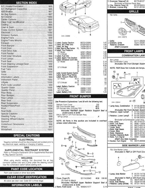 Toyota Part Number Lookup Toyota Celica Oem Parts Catalog Includes Price List