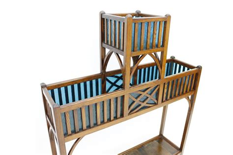 etagere jugendstil jugendstil etagere in wood and blue glass ca 1910 at