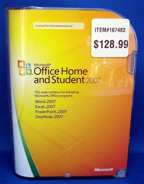 microsoft office home and student 2007 version retail