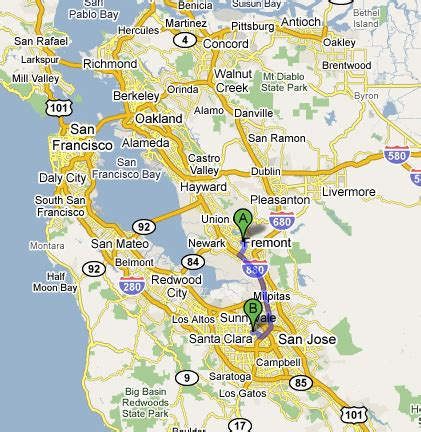 san francisco map distance more on california s big dig coyote