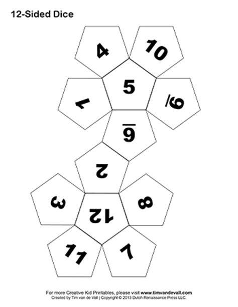How To Make A Paper Sided - printable paper dice template pdf make your own 6 10
