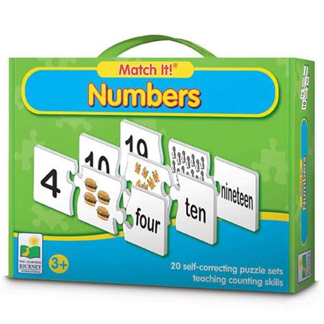 The Learning Journey Match It Time numbers match it learning puzzle educational toys planet