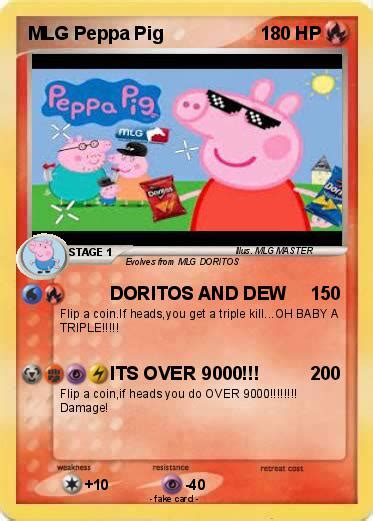 pok 233 mon mlg peppa pig 8 8 doritos dew pokemon card