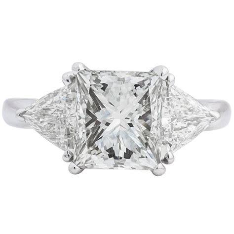 3 05 carat princess cut platinum ring for sale