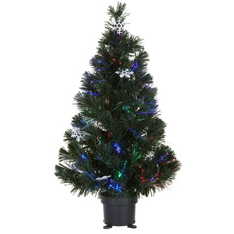 b and q artificial christmas trees 2 ft fibre optic pre lit tree departments diy at b q
