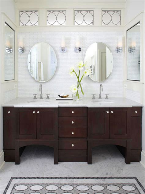 dark wood bathroom mirror 20 classy and functional double bathroom vanities house