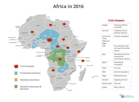 africa map 2016 iss africa africa in 2016