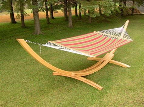 awesome outdoor cypress wood arc diy hammock chair stand