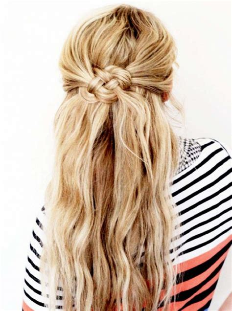 blonde hairstyles tutorial easy summer hairstyle diy celtic knot hair tutorial