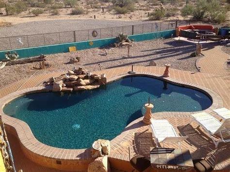 clothing optional bed and breakfast view from atop the ramada picture of desert joy clothing