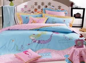 Red Comforter Queen Active Printing Sea World Mermaid 100 Cotton Kids Bed