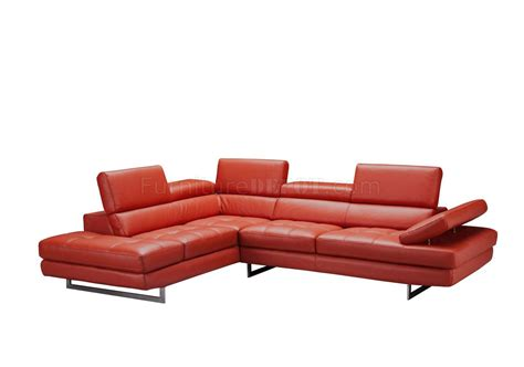 Orange Leather Sectional Sofa Venus Sectional Sofa In Orange Leather By J M