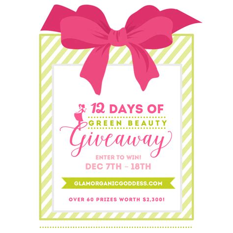 Giveaway Beauty - 2015 winners 12 days of green beauty giveaway the glamorganic goddess