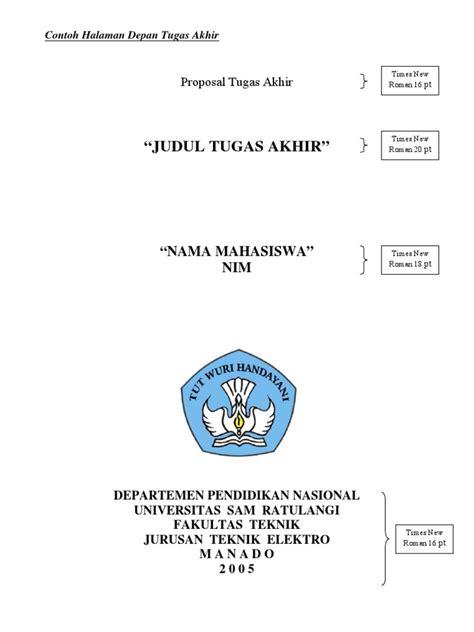format proposal judul tugas akhir contoh format proposal tugas akhir