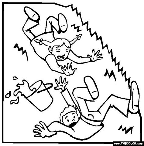 preschool coloring pages jack and jill 17 best images about nursery rhymes on pinterest crafts