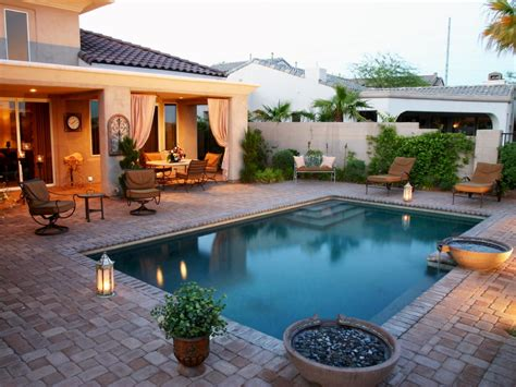 Stone Backyard Patio Hgtv Patio Designs With Pool Small Patio And Pool Designs