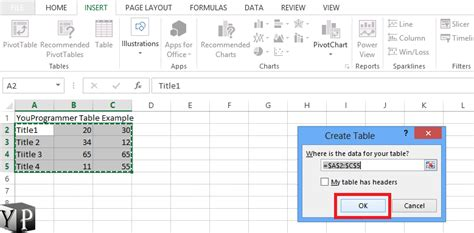 how to create a table in excel how to a table in excel spreadsheet youprogrammer