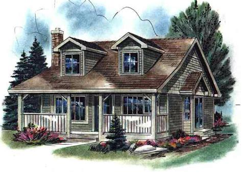 cape cod house plans with porch house plan 58508 cape cod narrow lot plan with 736 sq