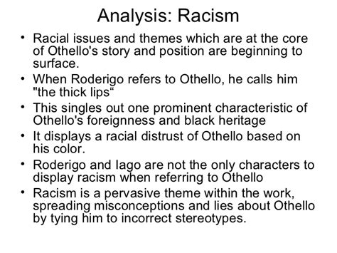 themes used in othello othello ppt scene by scene