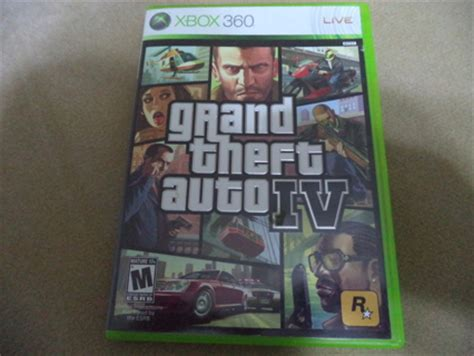 free: xbox 360 grand theft auto iv gta 4 video game with