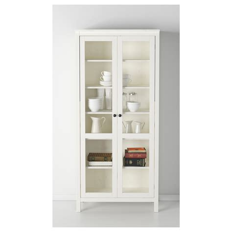 hemnes glass door cabinet hemnes glass door cabinet white stain 90x197 cm ikea