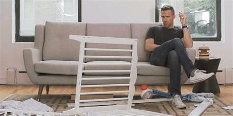 ryan reynolds ikea ryan reynolds putting ikea crib together is hilarious